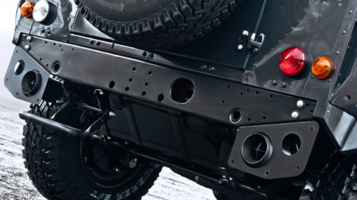 Twin Crosshair Exhaust System inc.. Exhaust Shields in Stainless Steel - 100mm Tailpipes Black ? or Chrome ?