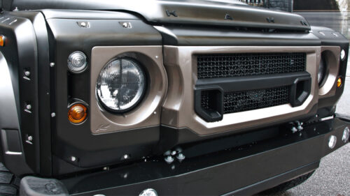 Front Bumper Replacement inc. Bumper Lights - Stainless Steel