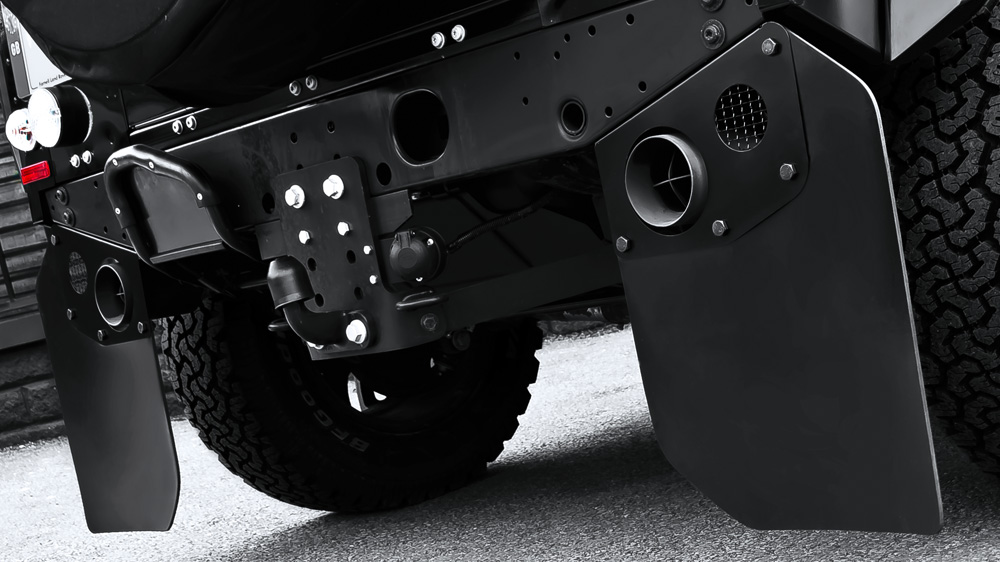 Rear Mud Flaps In Toughened Rubber Pair Chelsea Truck