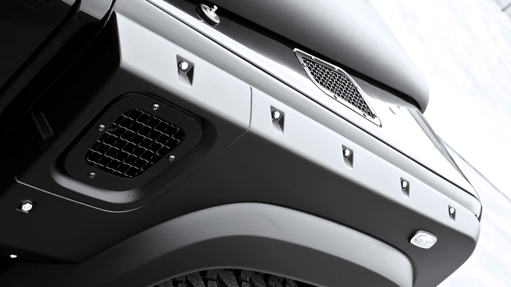 Side Vents with Mesh - Stainless Steel