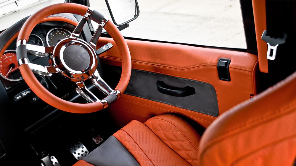 Double 3 Spoke Steering Wheel - Billet Aluminium & Black Leather (Includes Boss Kit)