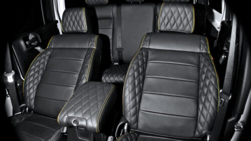 Centre Glove Box Re-upholstered in Quilted Leather