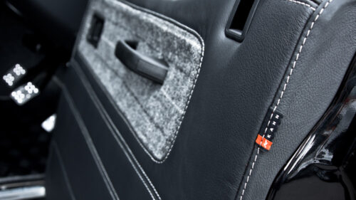 Door Panel Card Inserts & Trims in Quilted Leather (Choice of Colour Stitching)